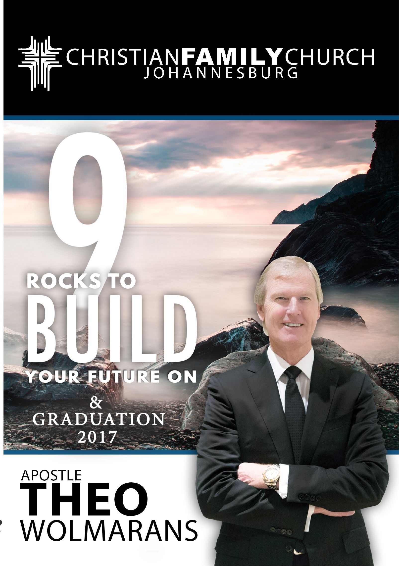 DR THEO WOLMARANS – 9 ROCKS TO BUILD YOUR FUTURE ON CD
